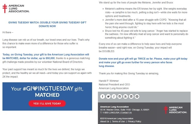 Giving Tuesday American Lung Association