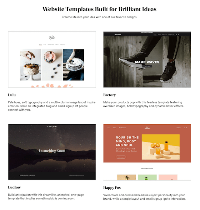 GoDaddy Website Templates Examples