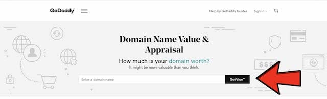 GoDaddy Domain Name Value Enter Box