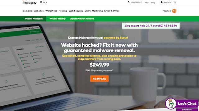 GoDaddy Express Malware Removal