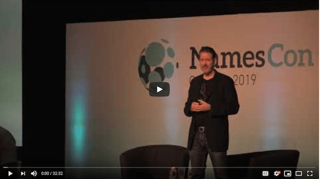 GoDaddy Paul Nicks Namescon Domain Aftermarket Video Screenshot