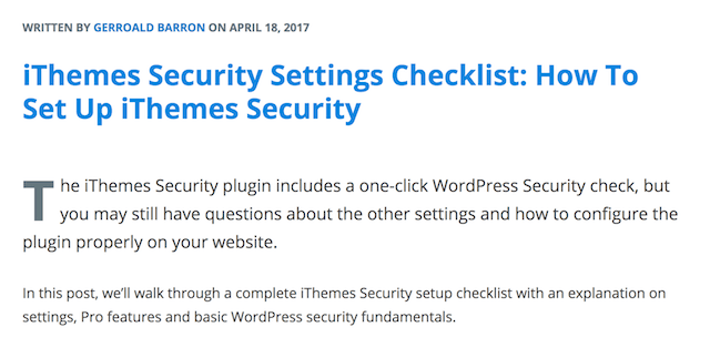 GoDaddy Pro Newsletter iThemes Security