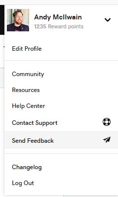 Send feedback through GoDaddy Pro