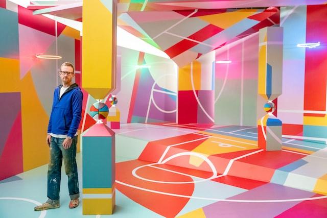 GoDaddy Project Backboard Dan Peterson Colorful Background
