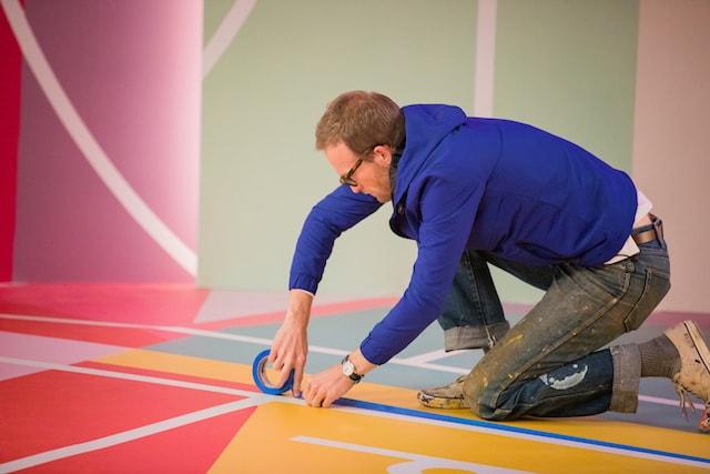 GoDaddy Project Blackboard Dan Peterson Putting Down Painters Tape