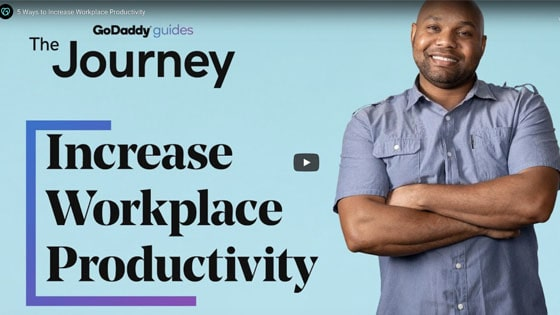 GoDaddy Video Increase Workplace Productivity Small