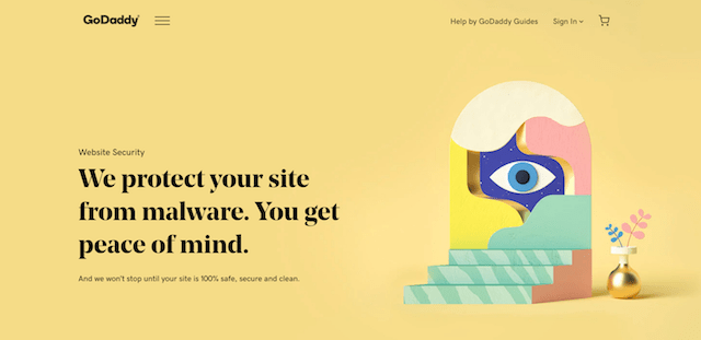 GoDaddy Website Security Landing Page
