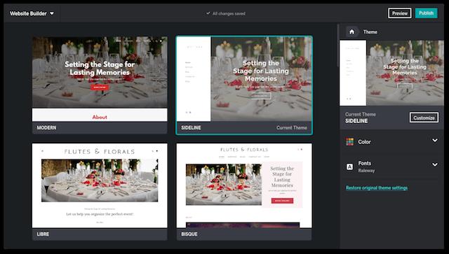 GoDaddy Websites Marketing Customize Theme