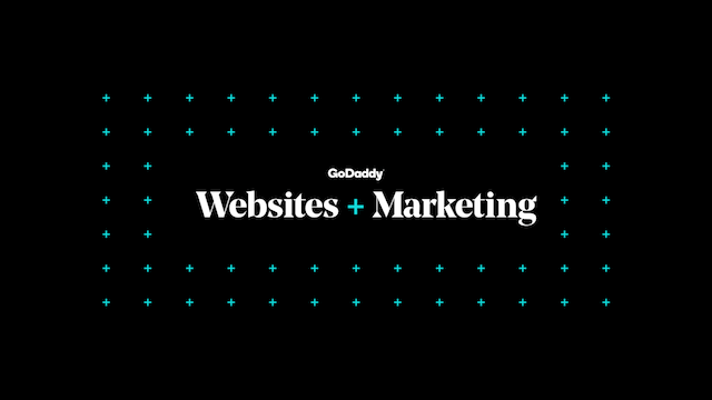 GoDaddy Websites Marketing Logo Black Background