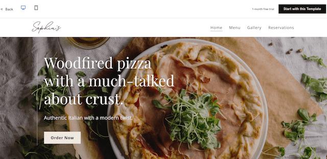 GoDaddy Websites + Marketing Restaurant Template