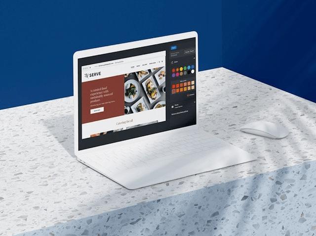 GoDaddy Websites Marketing Site on Laptop