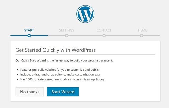 GoDaddy WordPress Quick Start Wizard