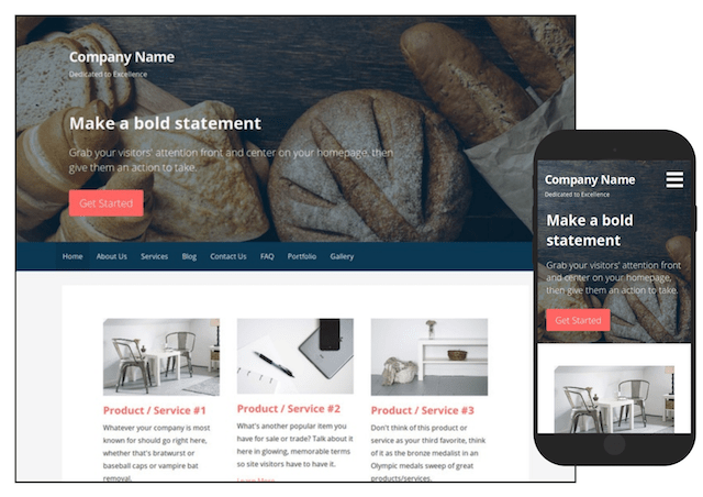 GoDaddy WordPress Sample Theme