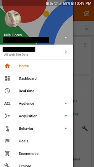 Google Analytics Dashboard Mobile