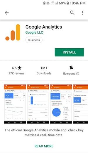 Google Analytics Mobile Play Store