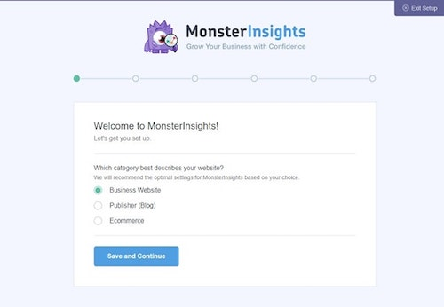Google Analytics MonsterInsights WordPress Setup