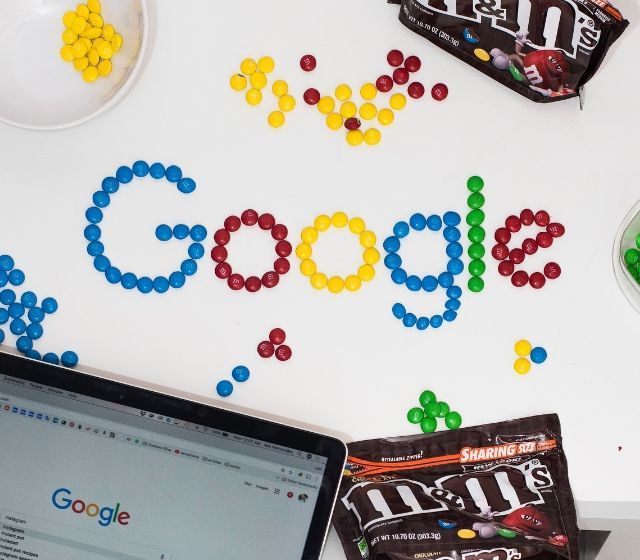 Google Spelled With Candy