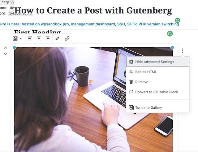 Gutenberg + WordPress Add Post