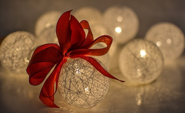 Red Bow On A Bauble