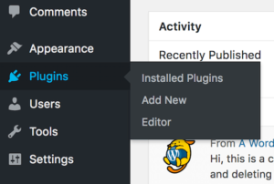 Install Plugin Menu Option With WordPress