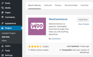 WooCommerce Plugin Installation Selection