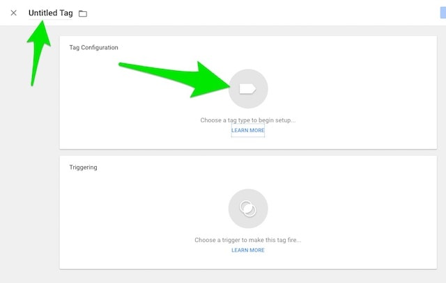 Google tag Manager Tag Name