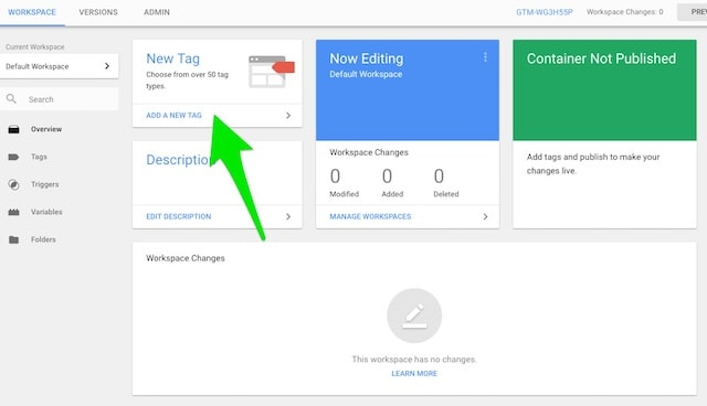Google Tag Manager New Tag Creation