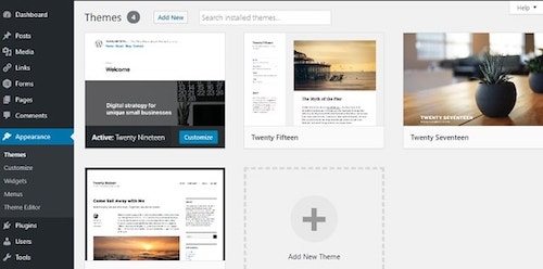 How To Build A WordPress Website Appearance