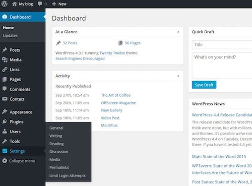 place a page into a widget on wordpress