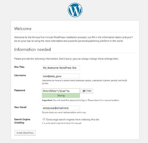 How To Build A WordPress Website Password