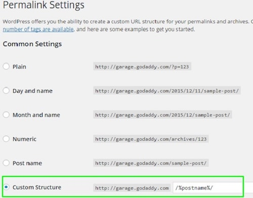 How To Build A WordPress Website Permalink Settings