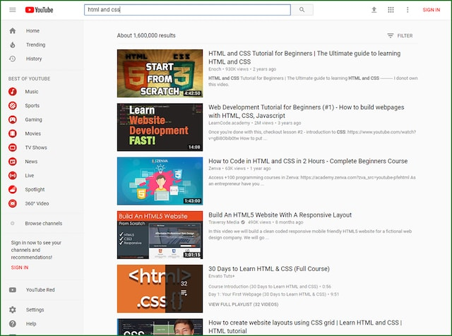How to Build a Website with HTML YouTube