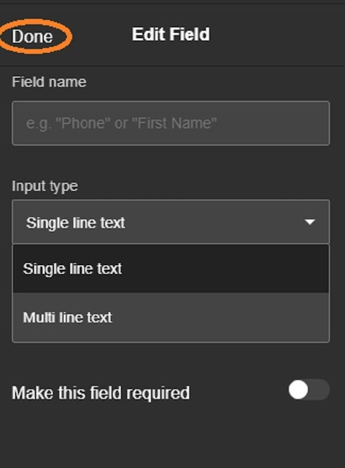 How To Create A Contact Form Order Fields