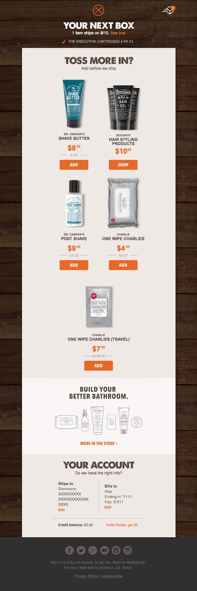 How To Create Email Campaigns Dollar Shave Club