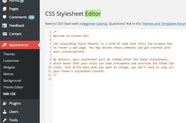 How to Customize WordPress Theme CSS
