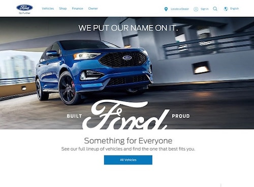 How To Design A Website Ford Landing Page