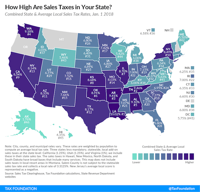 How to File Taxes U.S. State Sales Tax Map