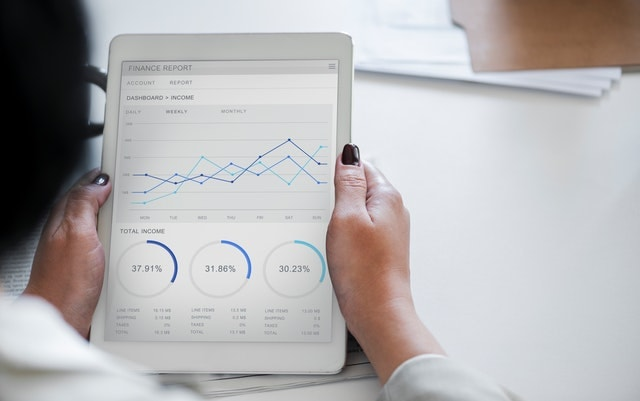 How To Get A Small Business Loan Financial Report on Tablet