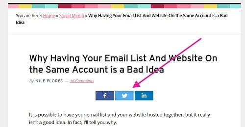 Exemple de boutons de partage social de blog