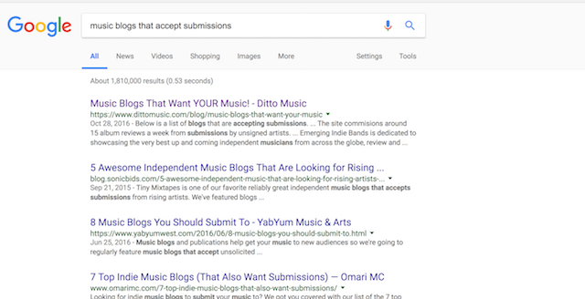 How to Get Music on Blogs Search Submissions