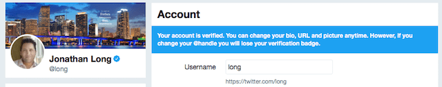 How to Get Verified on Twitter Example
