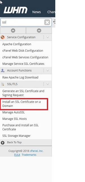How To Install SSL Certificates WHM