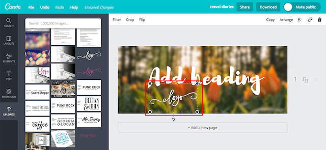 How To Make A Blog Header Logo Design