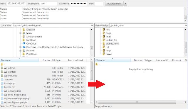 FileZilla Web Files Move