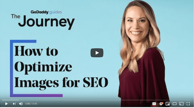 How to Optimize Images for SEO GoDaddy Video