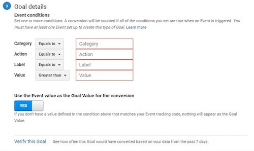 How Set Up Event Goal in Google Analytics