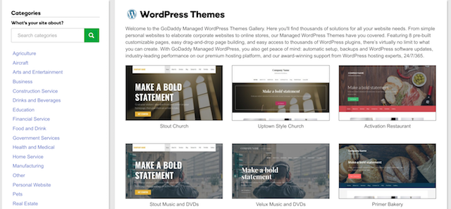 How To Start A Blog GoDaddy WordPress Theme Gallery