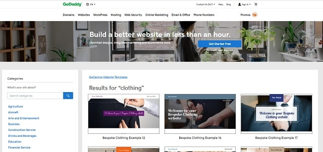 How To Start A Clothing Line GoCentral Clothing Website Template