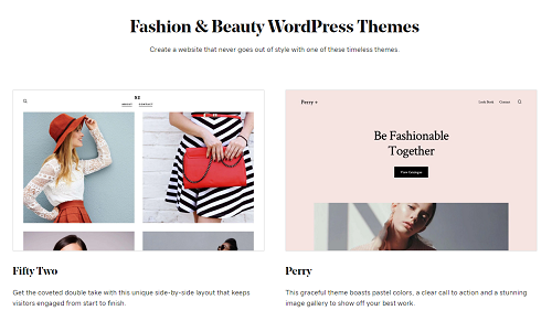 Screenshot Of Fashion And Beauty WordPress Themes By GoDaddy