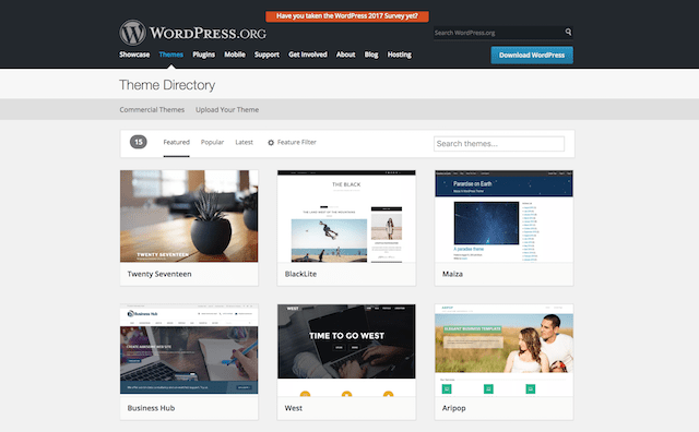 How To Use WordPress Themes Repository